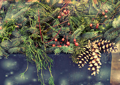 Photograph - Holiday Evergreens by JAMART Photography