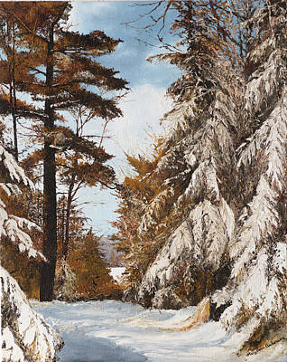 Deforestation Painting - Holland Lake Lodge Road - Montana by Mary Ellen Anderson