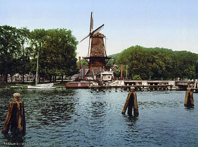 Scenic Drive Painting - Holland Windmill by Granger