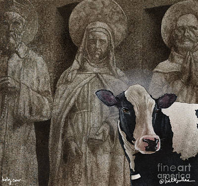 Priest Painting - Holy Cow... by Will Bullas