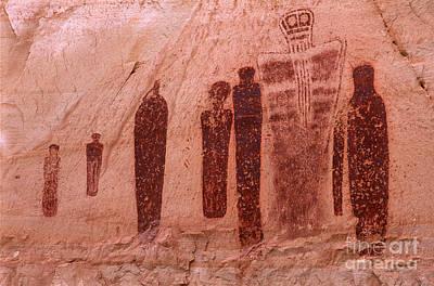 Holy Ghost Petroglyph Art Print by Bob Christopher