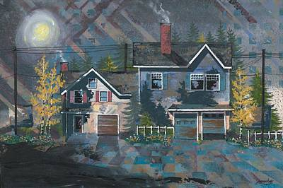 Suburbs Painting - Home In The Suburbs by John Wyckoff