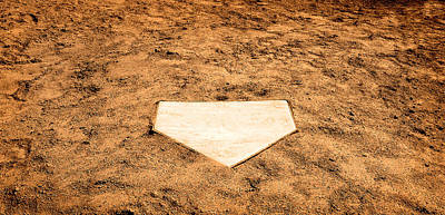 Homeplate Photograph - Home Plate by Lane Erickson