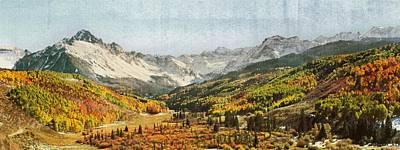 Pathway Digital Art - Home Series - Sneffels Range by Brett Pfister