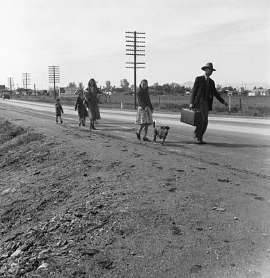 Homeless Pets Photograph - Homeless Family, 1939 by Granger