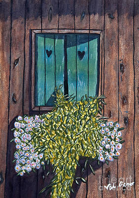 Painting - Homestead Window Watercolor Art Prints by Valerie Garner