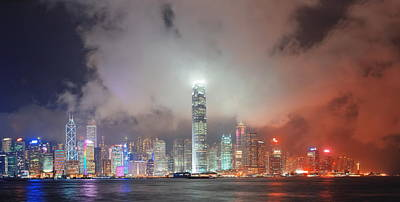 Photograph - Hong Kong Skyline by Songquan Deng