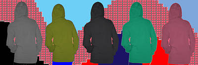 Hoodie Painting - Hoodie Gang Graffiti Fashion Background Designs  And Color Tones N Color Shades Available For Downlo by Navin Joshi