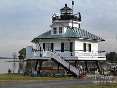 Maryland Photograph - Hooper Straight Lighthouse by Skip Willits