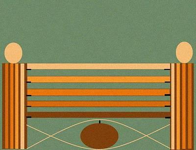 Horse Jump Design Art Print