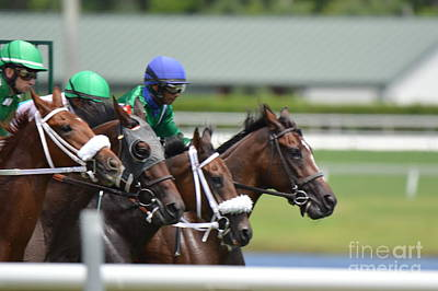 Photograph - Horse Racing by Frederic BONNEAU Photography