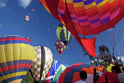 Hot Air Balloon Championships Art Print