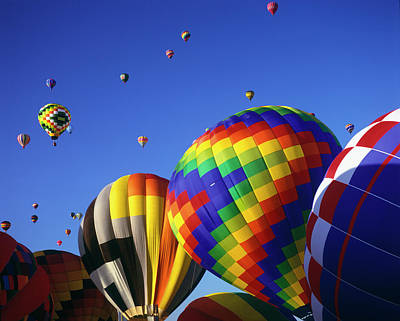 Hot Air Balloon Photograph - Hot Air Balloons Aloft by Greg Probst