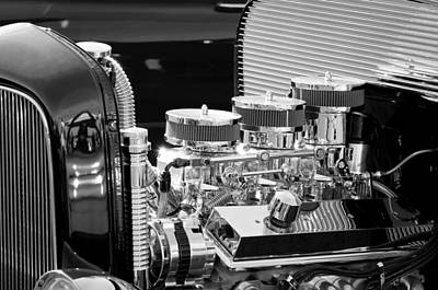 Classic Hot Rod Photograph - Hot Rod Engine by Jill Reger
