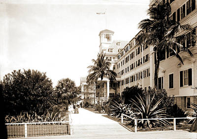 Hotel Royal Poinciana, Palm Beach, Fla, Resorts Art Print by Litz Collection