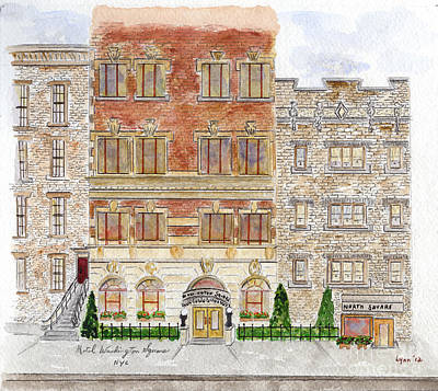 Painting - Hotel Washington Square by AFineLyne