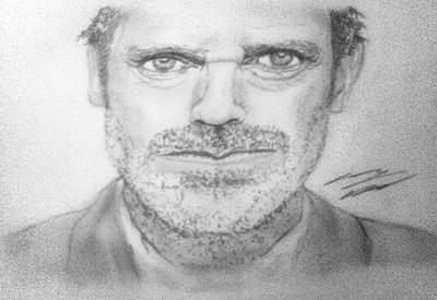 Gregory House Drawing - House by Corey Hopper