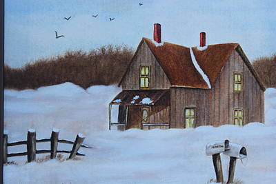 Painting - House In The Snow by Christine McMillan