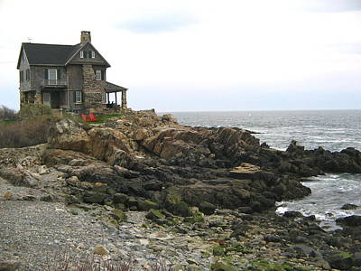 Photograph - House On Maine Coast by Denise Mazzocco