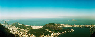 House On The Coast From Corcovado, Rio Art Print
