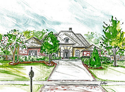 Mixed Media - House Rendering by Lizi Beard-Ward