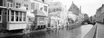 Houses Along A Channel, Bruges, West Art Print by Panoramic Images