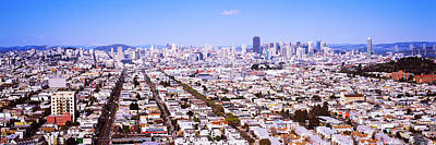 Houses In A City, San Francisco Art Print by Panoramic Images