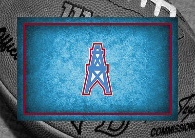 Oilers Photograph - Houston Oilers by Joe Hamilton
