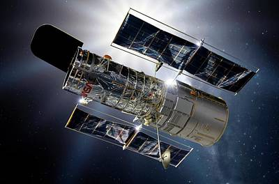Cosmological Photograph - Hubble Space Telescope by Detlev Van Ravenswaay