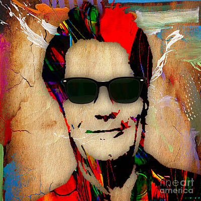 Musicians Mixed Media - Huey Lewis Collection by Marvin Blaine