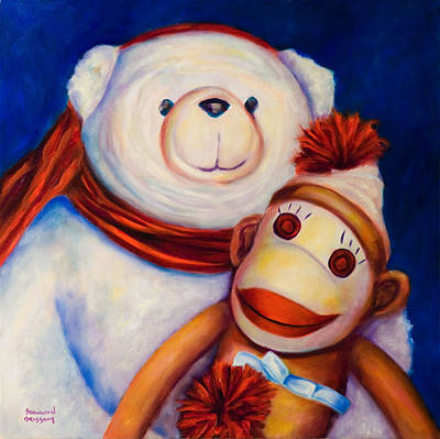 Painting - Hugs by Shannon Grissom