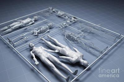 Human Cloning Art Print