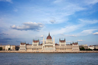 Budapest Sights Photograph - Hungarian Parliament Building In Budapest by Artur Bogacki