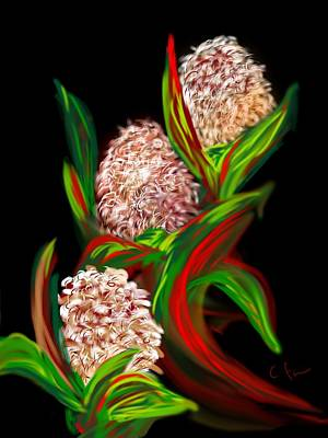Art Print featuring the digital art Hyacinth by Christine Fournier
