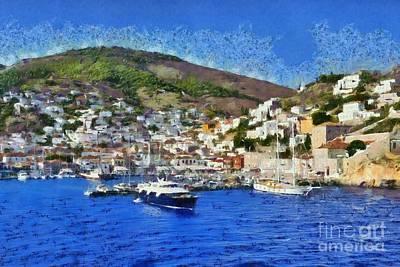 Painting - Hydra Island by George Atsametakis