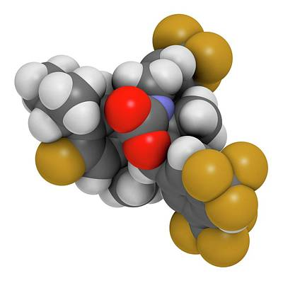 Hypercholesterolemia Drug Molecule Art Print