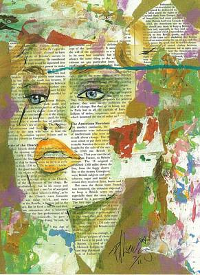 Beautiful Woman Mixed Media - I Have News by P J Lewis