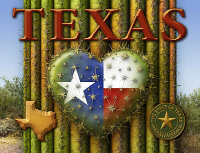 I Love Texas Art Print