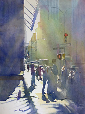 Pouring Painting - I Saw The Light At 44th And Broadway by Kris Parins