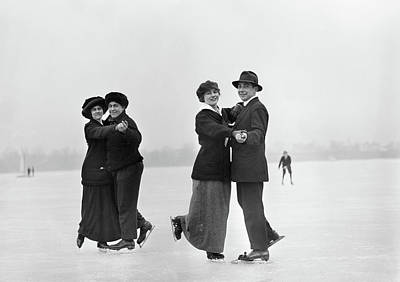 Figure Skating Photograph - Ice Skaters by Granger