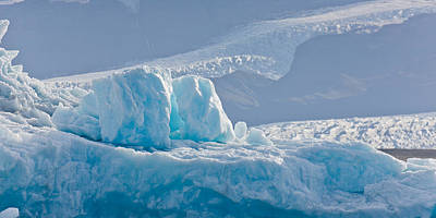 Icebergs At The Jokulsarlon Glacial Art Print