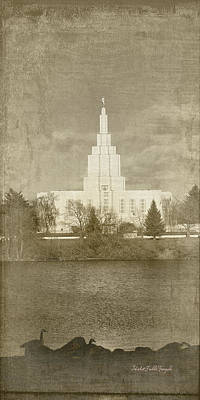 Idaho Falls Temple Art Print by Ramona Murdock
