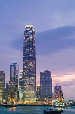Ifc Tower In Hong Kong Skyline Art Print by Tuimages