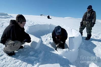 Igloo Photograph - Igloo Building, Arctic by Louise Murray