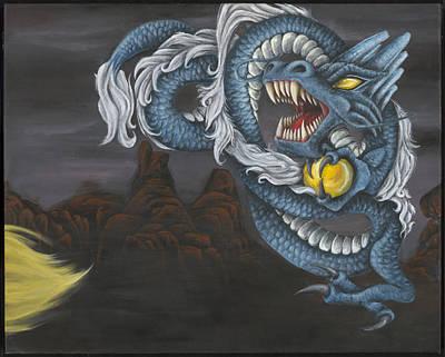 Snake Scales Painting - II Legends by Jade Clark