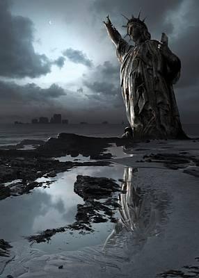 Armageddon Photograph - Illustration Depicting Global Warming by Mark Garlick