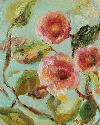 Art Print featuring the painting Impressionist Floral Painting by Mary Wolf