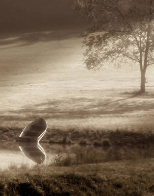 Sepia Photograph - In Quiet Solitude by Tom Mc Nemar