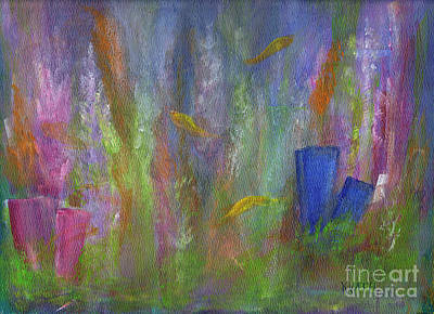 Painting - In The Aquarium by Karen Day-Vath