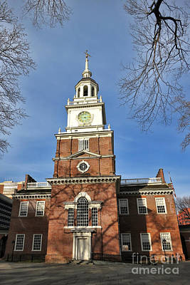Steeple Photograph - Independence Hall In Philadelphia by Olivier Le Queinec